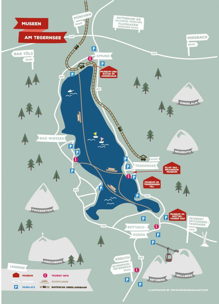Tegernsee Map